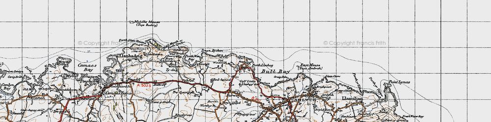Old map of Bull Bay in 1947