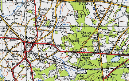 Old map of Bullbrook in 1940