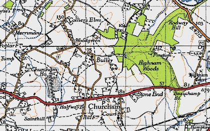 Old map of Woodgreen in 1947