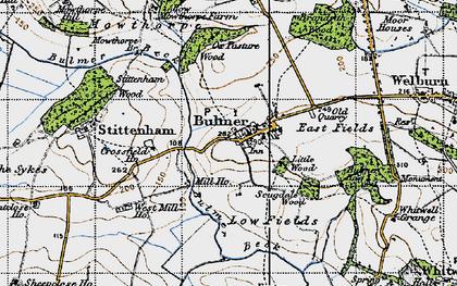 Old map of Bulmer in 1947