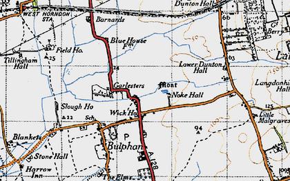 Old map of Bulphan in 1946