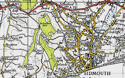 Old map of Wheat Hill in 1946