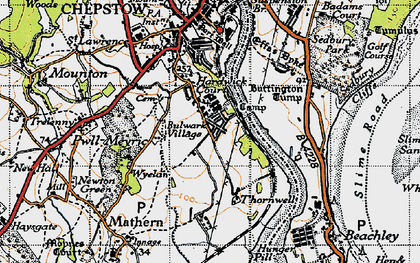 Old map of River Wye in 1946