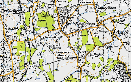 Old map of Bunce Common in 1940
