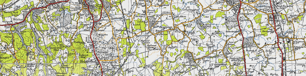 Old map of Westwood Common in 1940