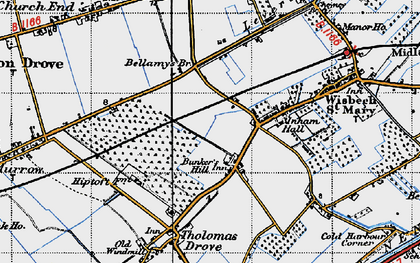 Old map of Bunker's Hill in 1946