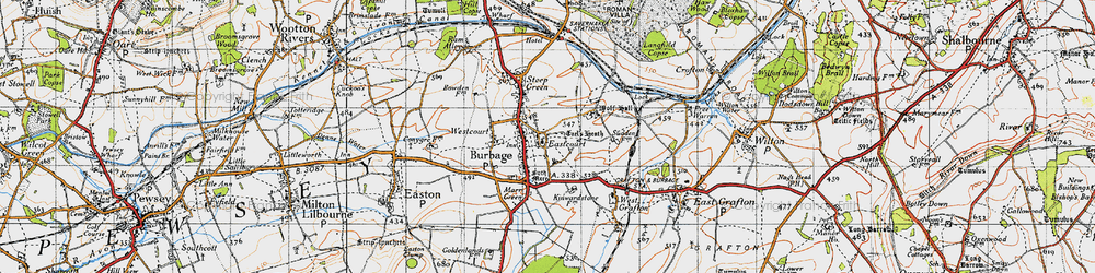 Old map of Wolfhall in 1940