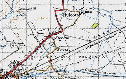 Old map of Burcott in 1946