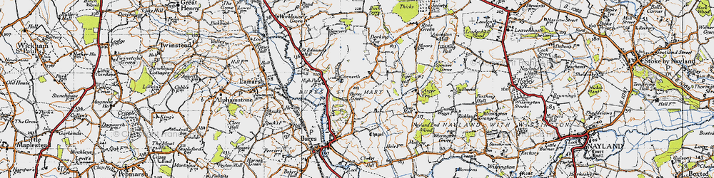 Old map of Wissington Grove in 1946