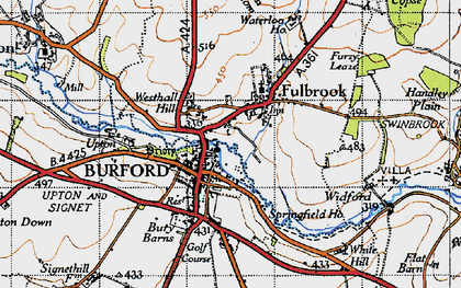 Old map of Burford in 1946