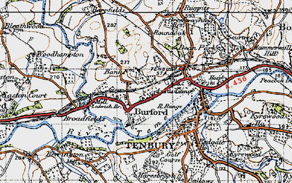 Old map of Ledwich Br in 1947