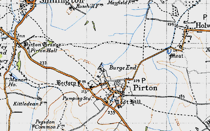 Old map of Burge End in 1946