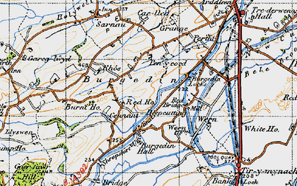 Old map of Burgedin in 1947
