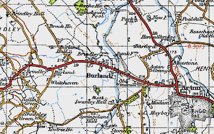 Old map of Bache Ho in 1947