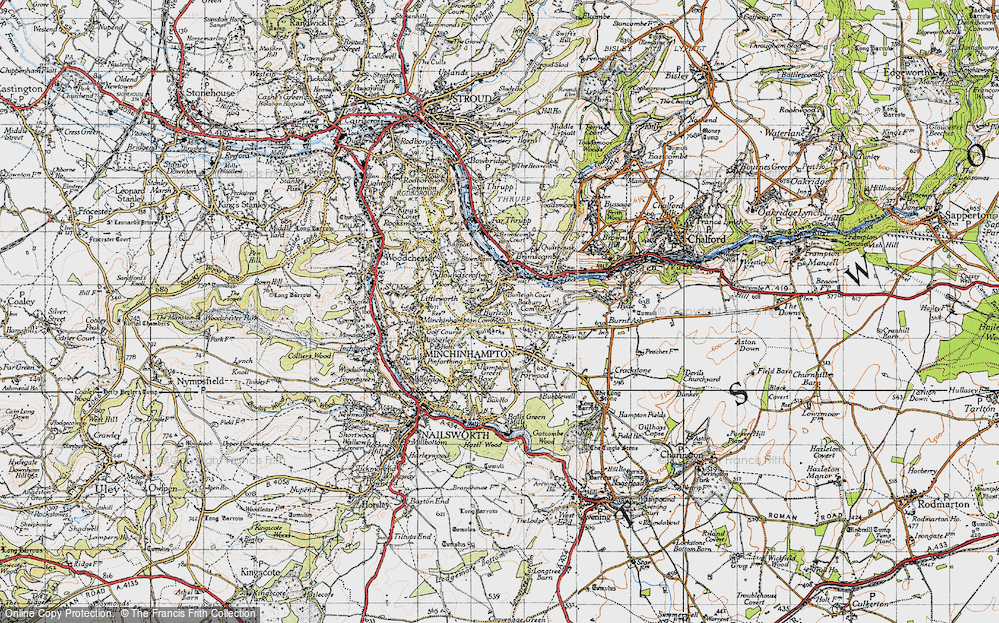 Old Map of Burleigh, 1946 in 1946