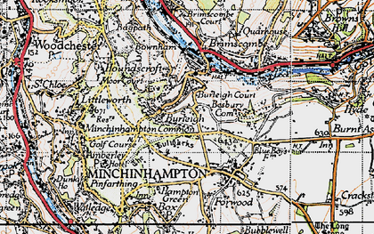 Old map of Burleigh in 1946