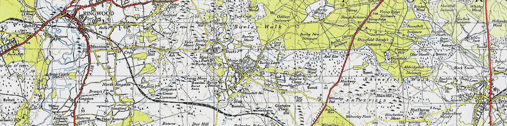 Old map of Burley in 1940