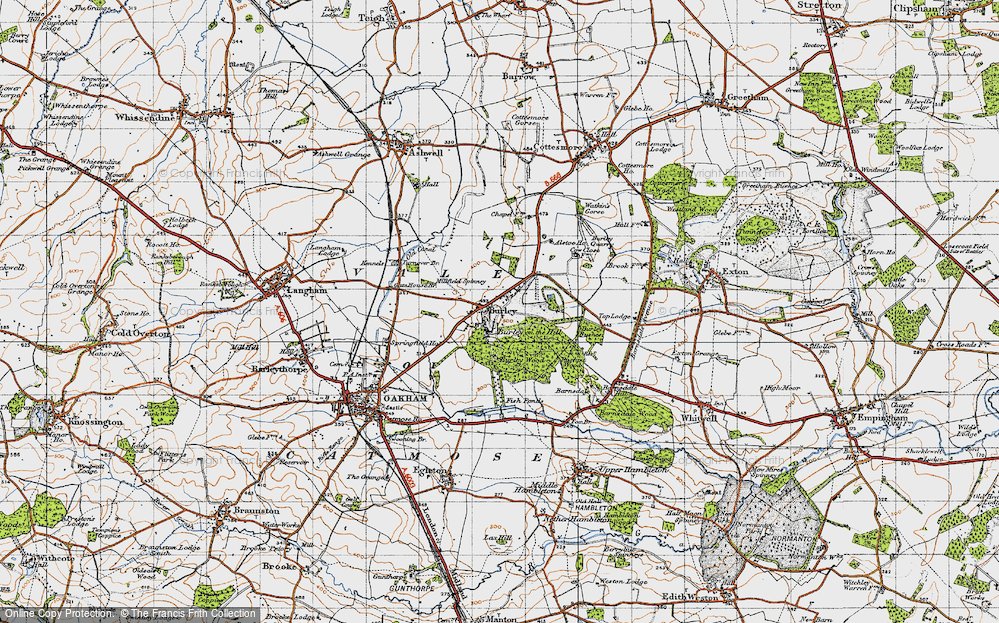 Old Map of Burley, 1946 in 1946