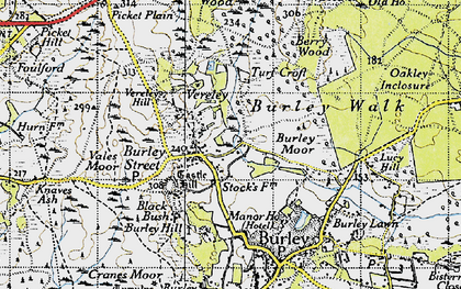 Old map of Backley Plain in 1940