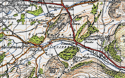 Old map of Worsell Wood in 1947