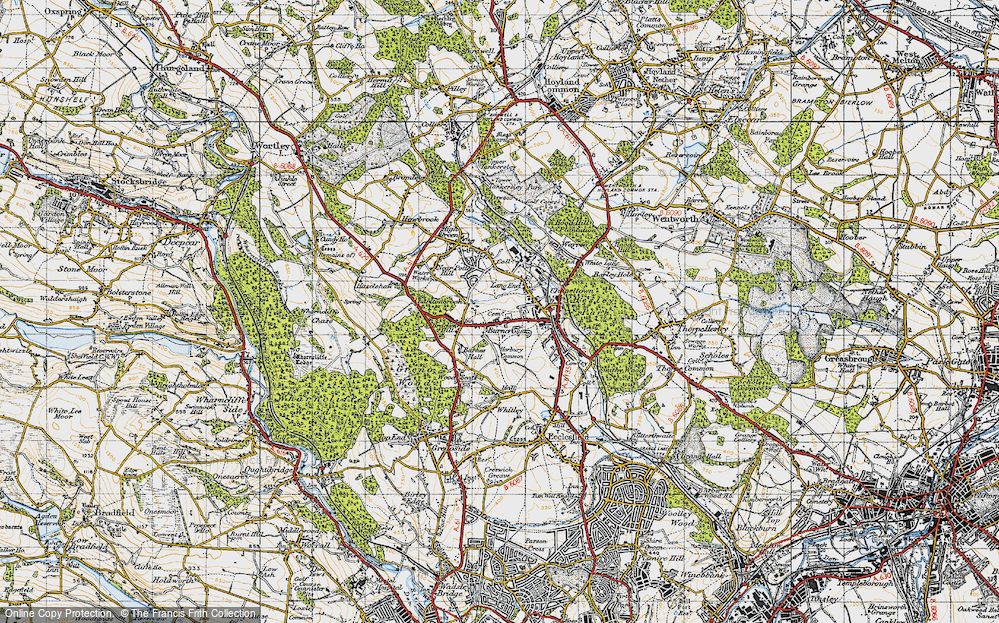 Old Map of Burncross, 1947 in 1947