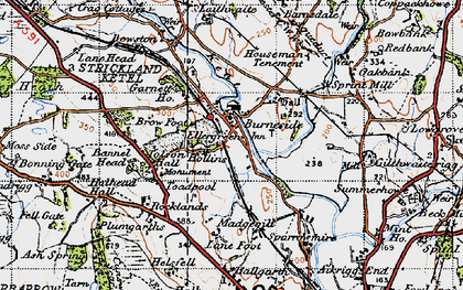 Old map of Lane Foot in 1947
