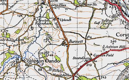 Old map of Burnett in 1946