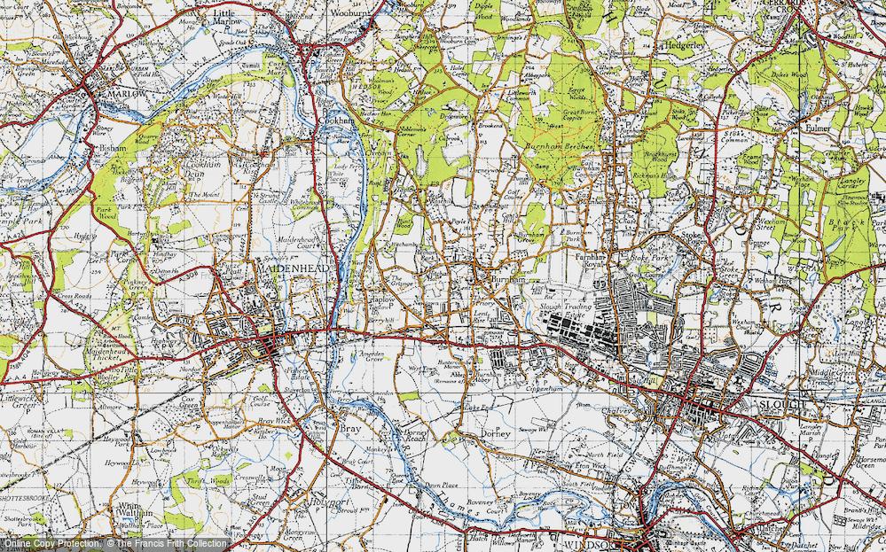 Old Map of Burnham, 1945 in 1945