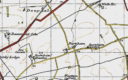 Old map of Wootton Wold in 1947