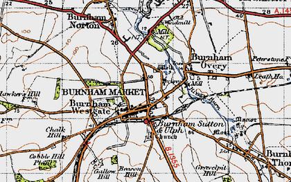 Old map of Burnham Market in 1946