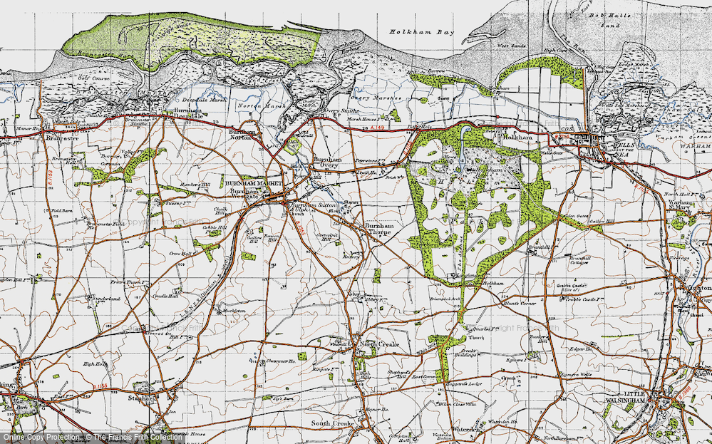 Old Map of Historic Map covering Leath Ho in 1946