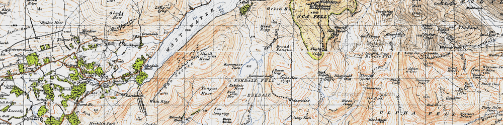 Old map of Whinscales in 1947