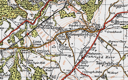 Old map of Burnopfield in 1947