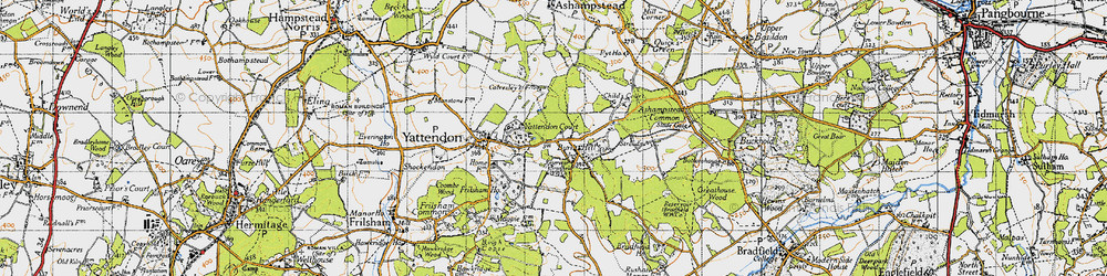 Old map of Yattendon Court in 1947