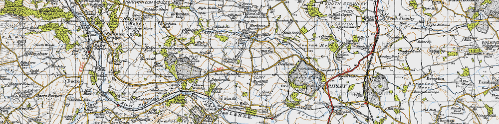 Old map of Winsley Hall in 1947