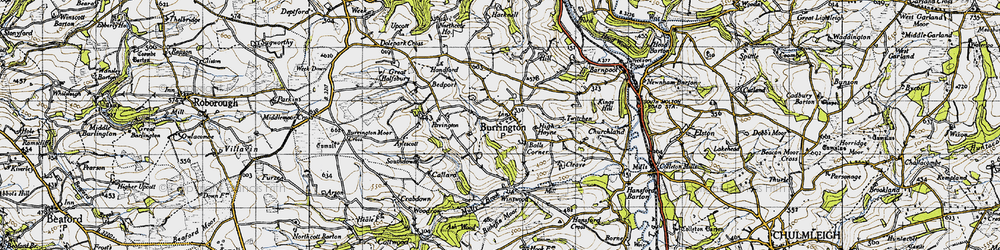 Old map of Winswood in 1946