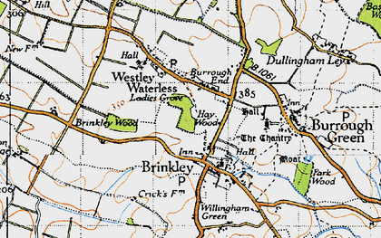 Old map of Burrough End in 1946