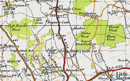 Old map of Burroughs Grove in 1947