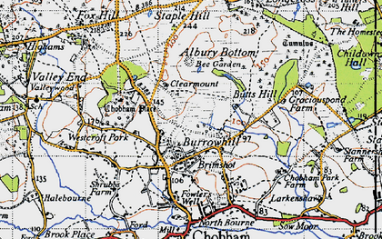 Old map of Albury Bottom in 1940