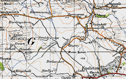 Old map of Burry in 1946