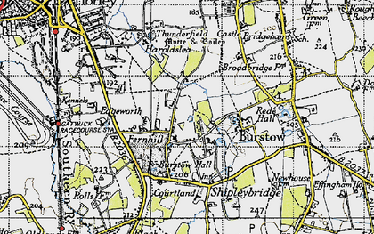 Old map of Burstow in 1940