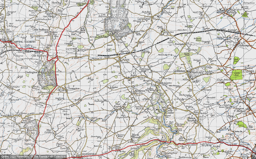 Old Map of Burton, 1946 in 1946
