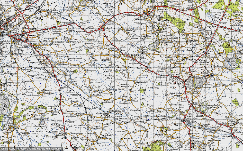 Old Map of Burton, 1947 in 1947