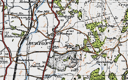 Old map of Burton-in-Kendal in 1947