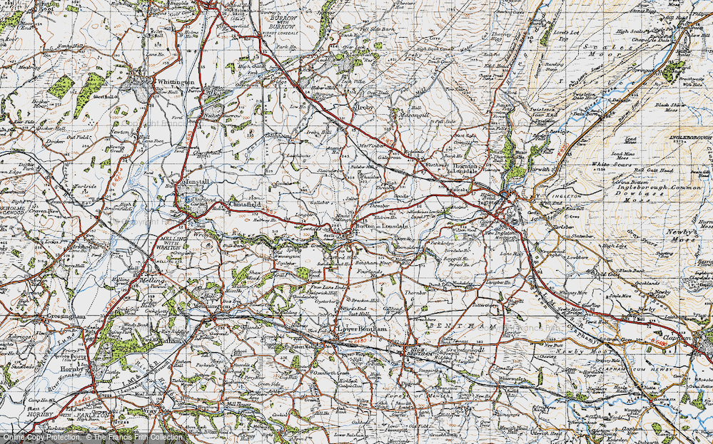 Old Map of Burton in Lonsdale, 1947 in 1947
