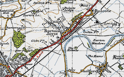 Old map of Burton Joyce in 1946