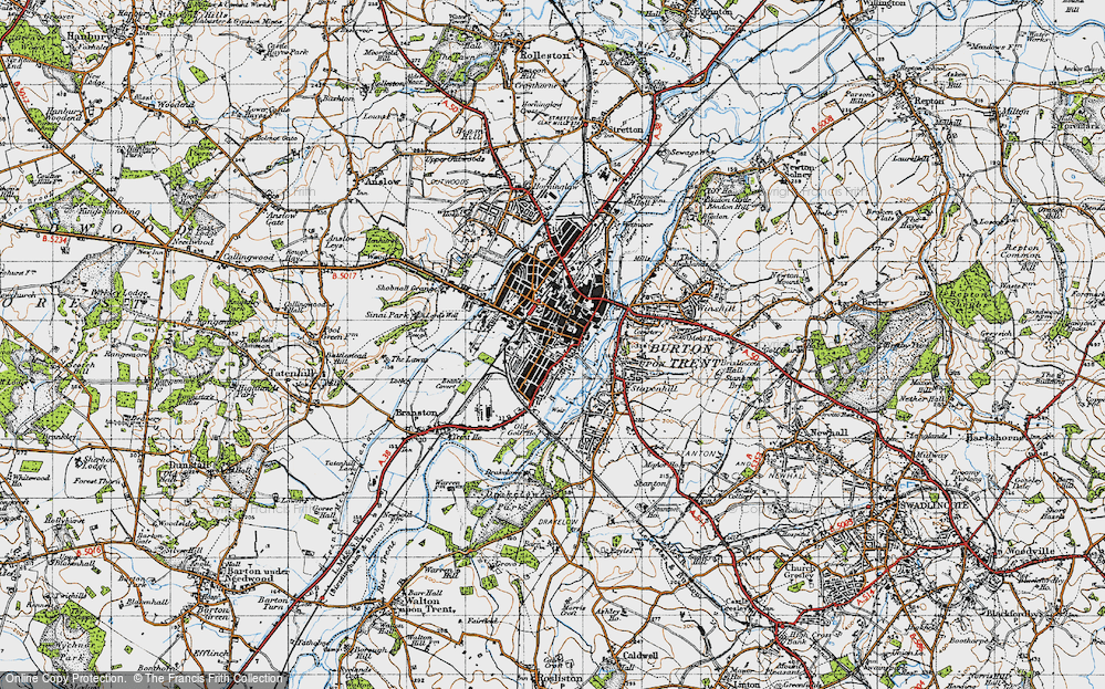 Old Map of Burton upon Trent, 1946 in 1946