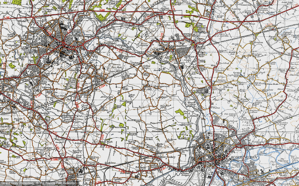 Old Map of Burtonwood, 1947 in 1947