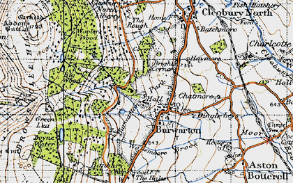 Old map of Banbury in 1947
