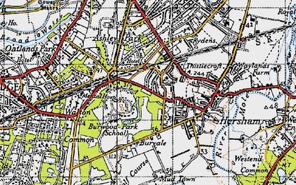 Old map of Burwood Park in 1940